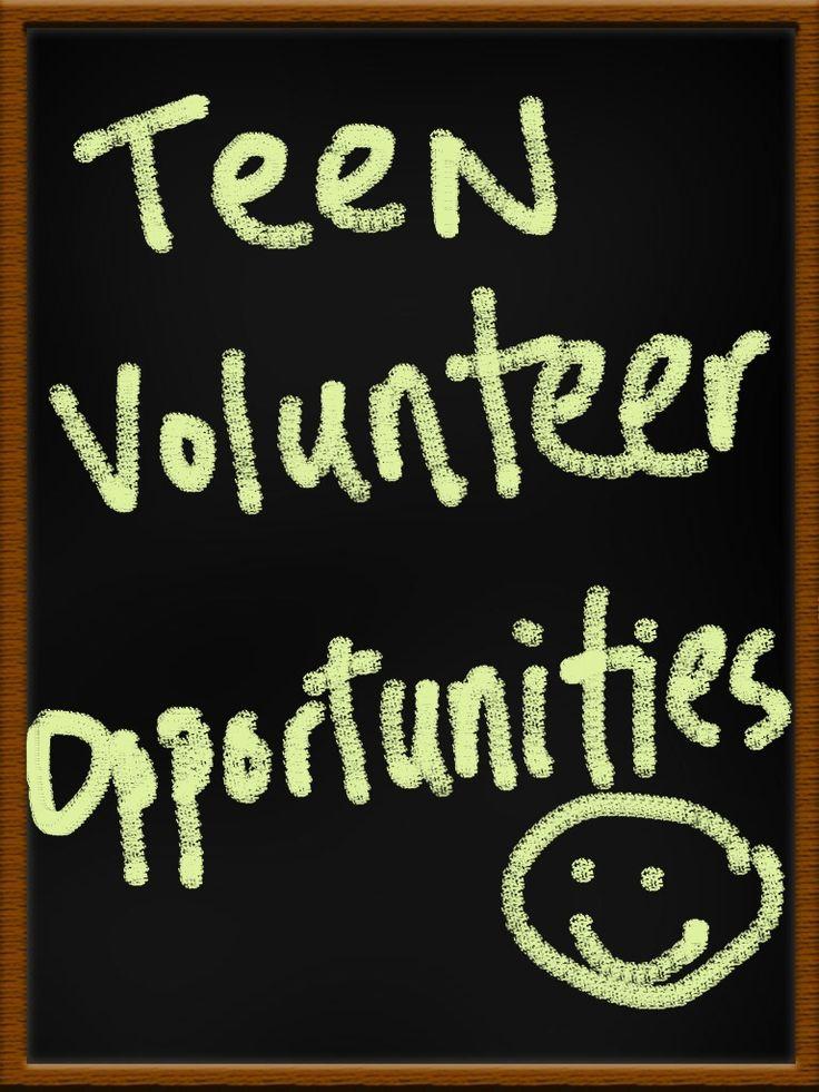 Teen Volunteer Opportunities