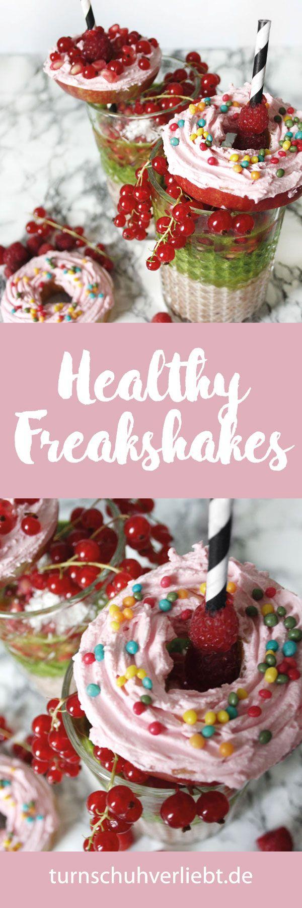 Freakshakes sind einer der Sommertrends, doch warum immer mit Zucker und vielen Kalorien? Auf meinem Fitnessblog turnschuhverliebt.de findet ihr ein Rezept für leckere healthy Freakshakes. Viel Spaß beim Ausprobieren! http://turnschuhverliebt.de/healthy-freakshakes-apfel-donuts-sommertrends-mit-pinterest/