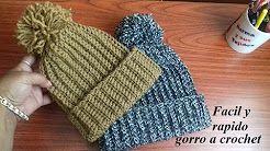 gorros tejidos a crochet paso a paso - YouTube