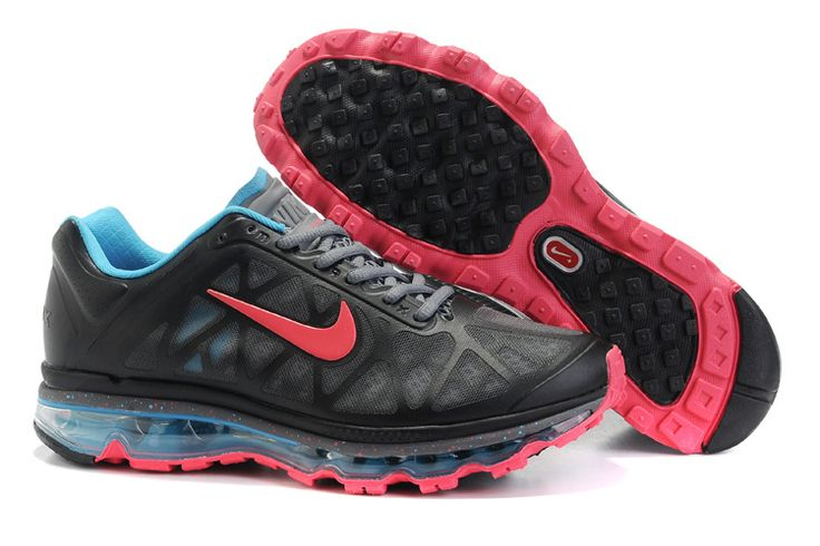 Nike Air Max 2011 Mens Running Shoe Black Red Fashion .
