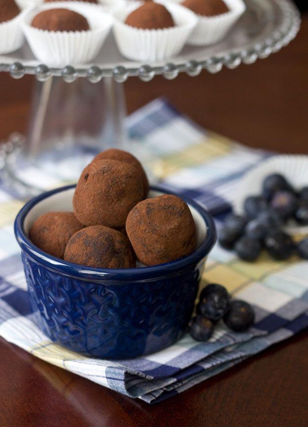 Sweet Tooth: Dark Chocolate Blueberry Truffles
