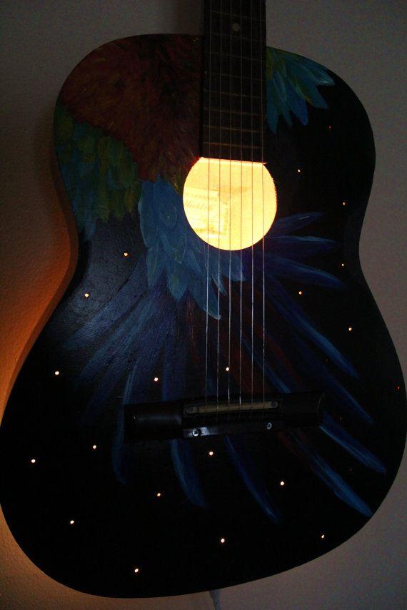 20 best guitar shelves images on pinterest guitar shelf guitar upcycled acoustic guitar light musical instrument lamp solutioingenieria Gallery