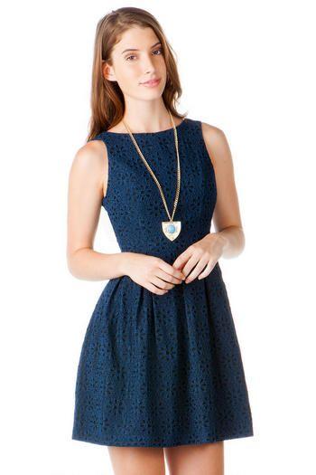 Francesca s blue lace dress