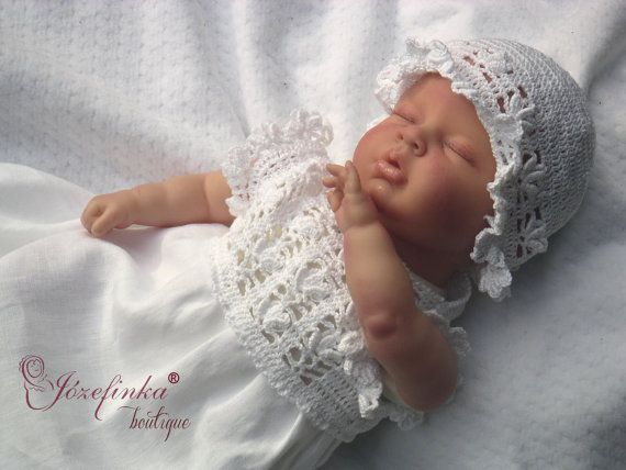 Baptism Dress,Crochet Baby Dress,linen dress for girl,baptism dress for baby girl,flower girl dress,baptism dress,Christening Gown,