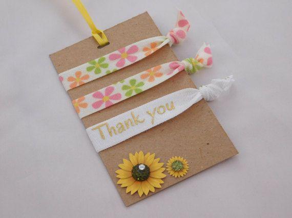 Les élastiques à cheveux de fleurs  Merci par DLDesignerCrafts
