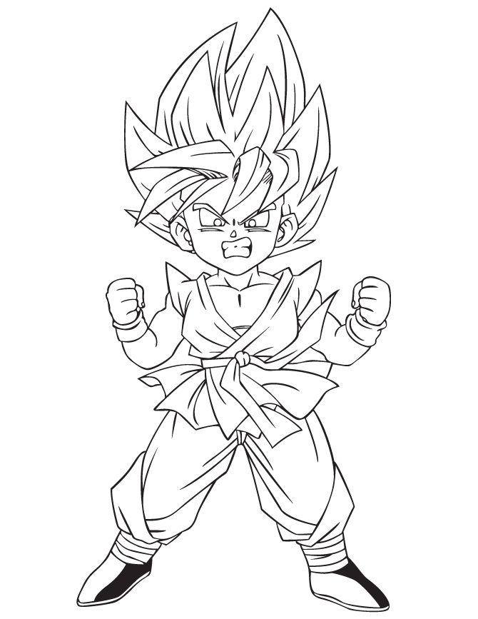 Anime Dragon Ball Z Coloring Page