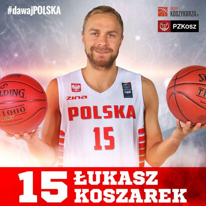 Lukasz Koszarek (#15) - rozgrywający  Reprezentant Polski w Koszykówce