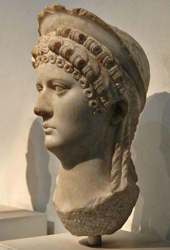 Claudia Octavia (?), Poppaea Sabina (?), Agrippina Minor (?). Marble. 54—68 CE. Inv. No. 124129. Rome, Roman National Museum, Palazzo Massimo alle Terme