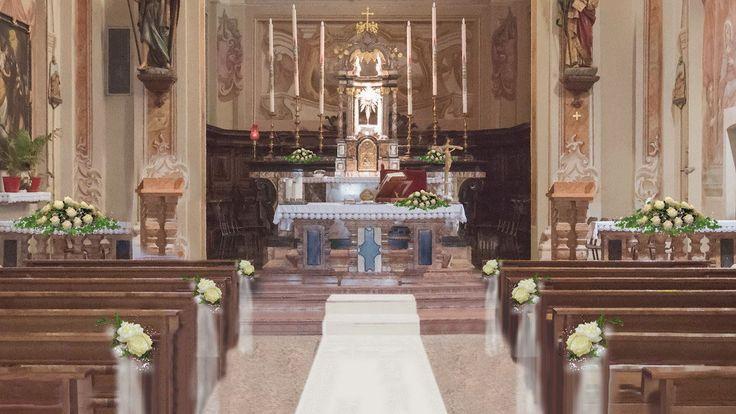 Variante al progetto di allestimento matrimonio chiesa di Cerro al Lambro