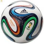 this is a awesome size 5 stamping of the World Cup 2014 in brazil the ball soccer.  the ball soccer has adidas, Worl Cup the brazil 2014 and the name of the ball the logo.  the ball soccer costs five hundred sixty-four pesos