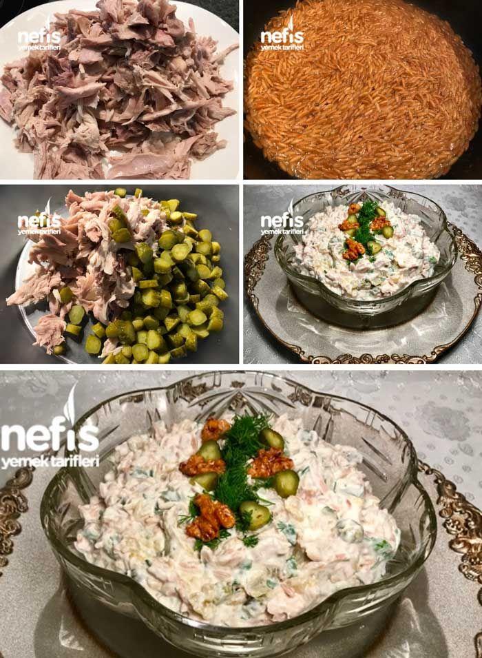 Tavuklu Köz Patlıcan Salatası (Meze)