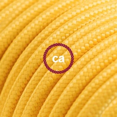 Round Electric Cable covered by Rayon solid color fabric RM10 Yellow Choose your country here: www.creative-cables.net #lighting #illuminazione #homedecor #house #haus #maison #hogar #casa #design #fabric