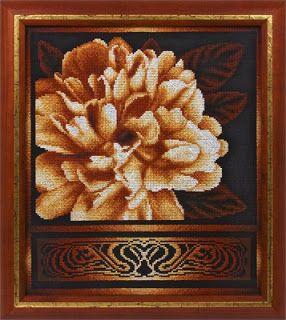 """Вышивалка 刺繍: Скачать схему вышивки """"Panna"""" Ц-1020 «Золотистый пион»"""