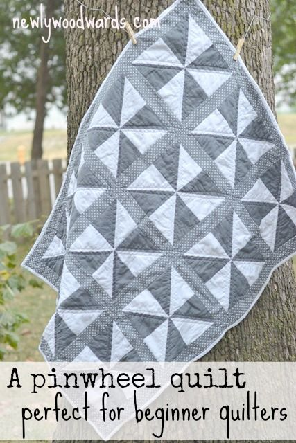 This simple pinwheel quilt looks a lot more difficult than it actually is {if only I could sew. @Heather Creswell Cox make this for me?!}