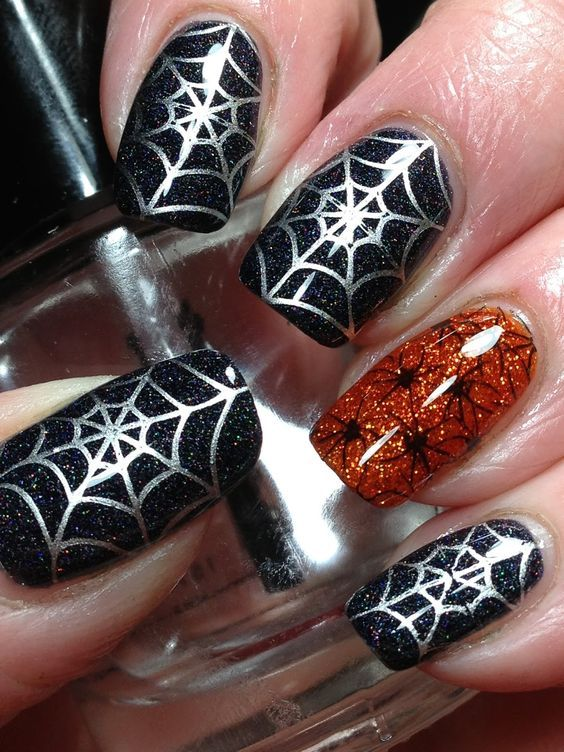 30 Amazing Spider Web Nails | Nail Design Ideaz - Page 2