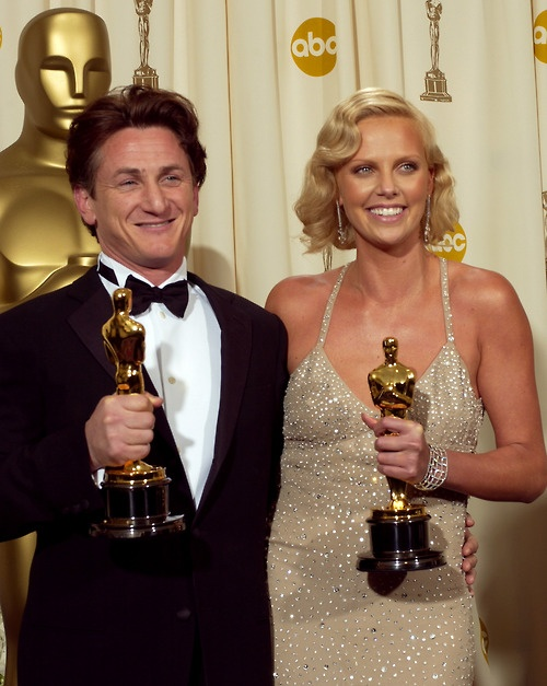 """Sean Penn - Best Actor Oscar for """"Mystic River"""" and Charlize Theron - Best Actress Oscar for """"Monster"""""""