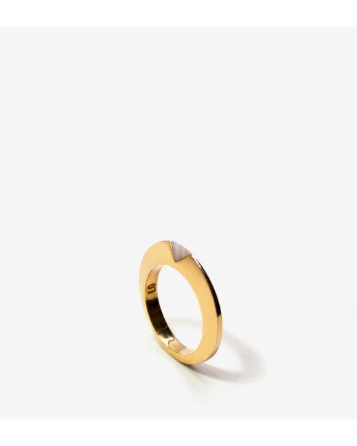 Luz Ortiz | Gold Keen Ring Mother Of Pearl | Lyst
