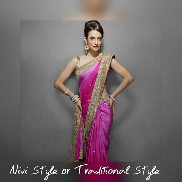 Saree is undoubtedly the most beautiful Indian attire, and we all know how to wear it the formal way that is Nivi style. Do you know Saree draping style changes with every region in India? Yes, there are several different styles of wearing the saree. So let's get into the art of How to Wear a Saree and look intensely fashionable by adding some interesting twists to saree-draping style.  Here are few styles of draping the sarees- Andhra style or Traditional Indian style or Nivi style  #Nivi…
