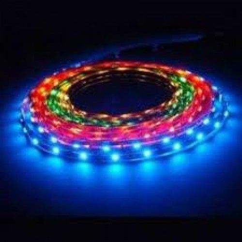 LED Strip lighting come in a number of colours. Dont be afraid to give coloured strip lighting a go.