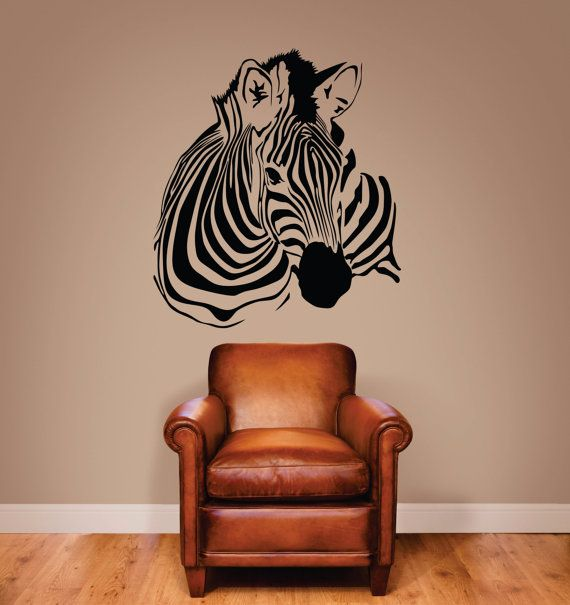 Zebra Stripes Wall Decor : Zebra wall decal stripe decor