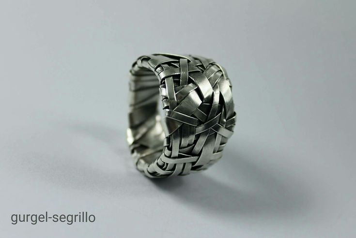 woven series ring handcrafted in silver by gurgel-segrillo