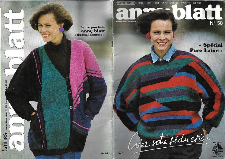 Anny Blatt # 58 knitting magazine textured fairisle sweaters women men children #AnnyBlatt