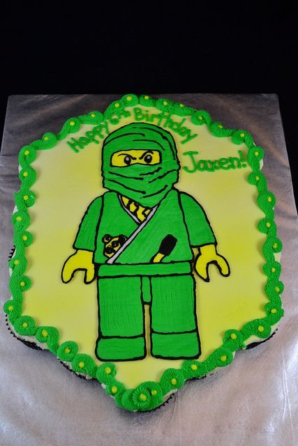 Ninjago Green Ninja Cupcake Cake by GO Custom Cakes by B, via Flickr