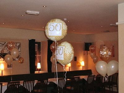 50th wedding anniversary party ideas | Anniversary Balloon Decorations & Partyware