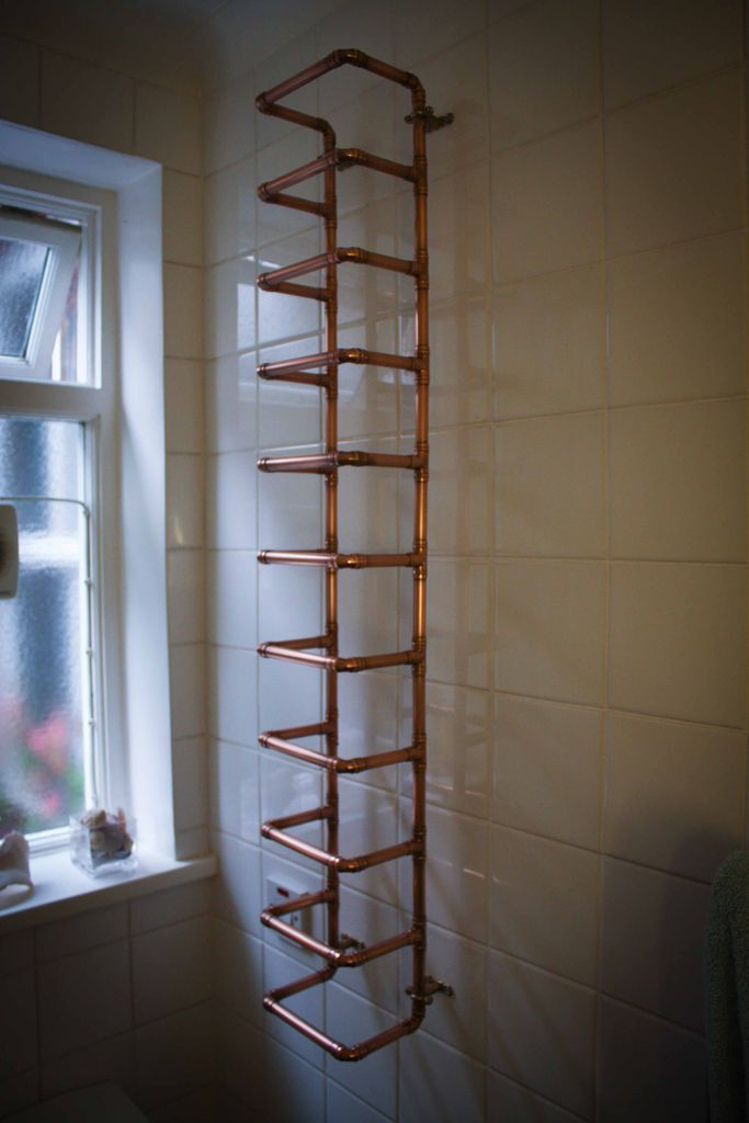 Copper Pipe Towel Storage