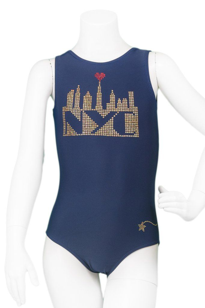 Navy Nyc Skyline Tank Leotard With Images Tank Leotard Leotards Nyc Skyline