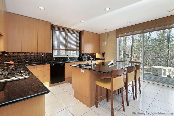 #Kitchen Idea of the Day Modern Light Wood Kitchens. & 81 best Light Wood Kitchens images on Pinterest | Kitchen ideas ...
