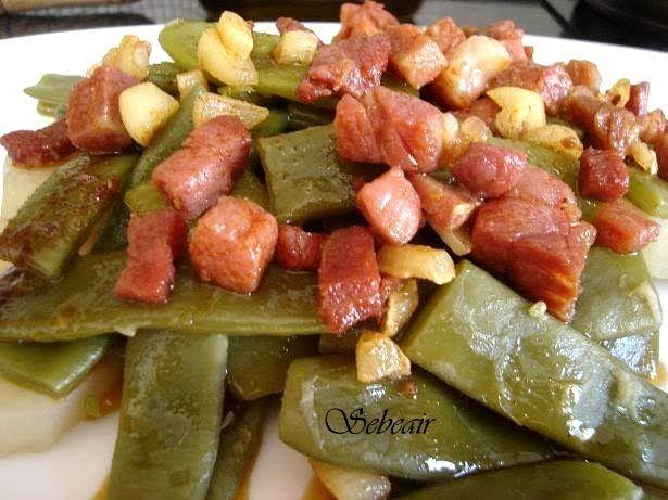 La cocina de sebeair: JUDIAS VERDES CON PATATAS Y JAMON SERRANO (fussioncook)
