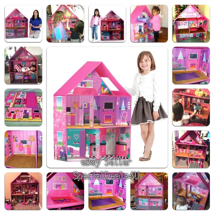 Modern Pink Barbie Dream House Play Home Room Set Girls Toy Doll Child Miniature #SD4UCalego #Modern