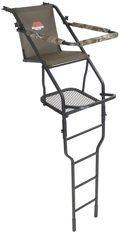 Millennium Treestands L100 21 ft. Single Ladder Stand (Includes SafeLink Safety Line)