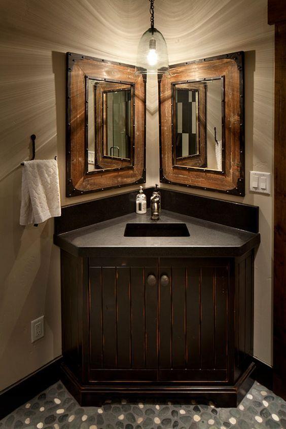 31 Best Master Bath Makeover Images On Pinterest  Bathroom Ideas Simple Small Bathroom Corner Vanity Decorating Inspiration