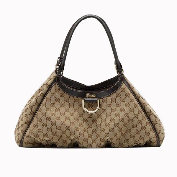 Gucci D Gold' Large Shoulder Bag Beige-Brown 189835 BXS