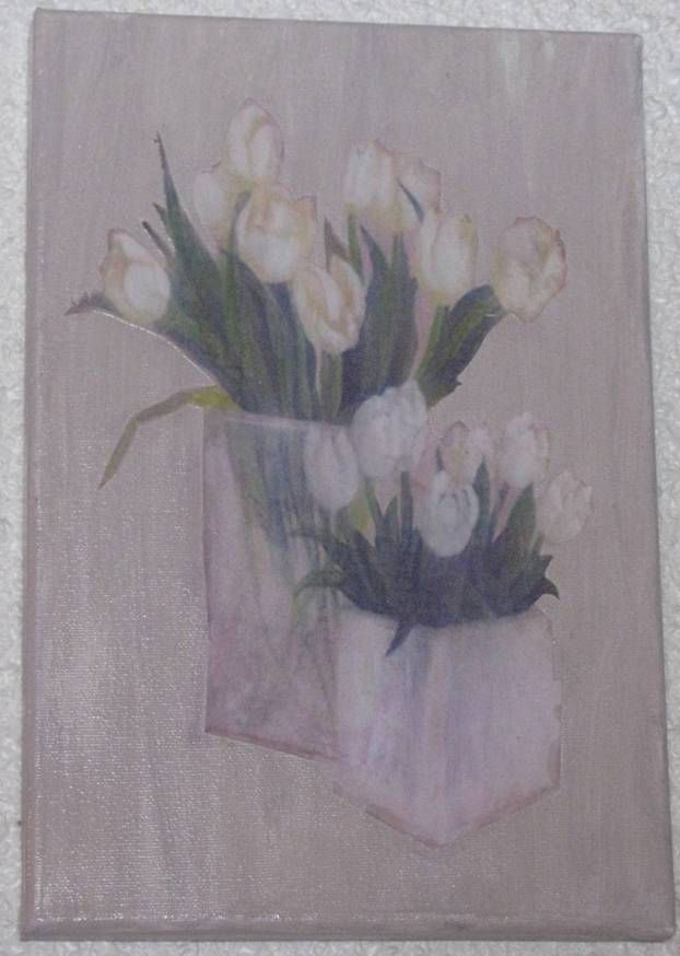 lienzo 20 x30 decoupage