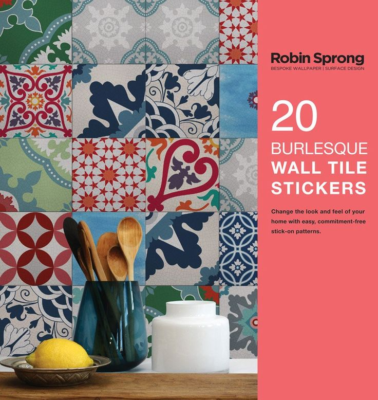 20 Burlesque Wall Tile Stickers - Robin Sprong Wallpapers