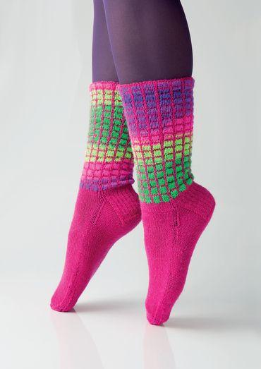 Sokken met een roosterpatroon van Charles D. Gand |  Schachenmayr