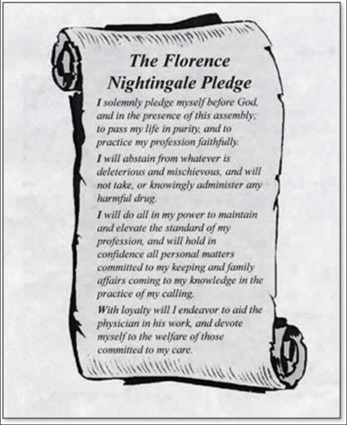 The florance nightingale pledge