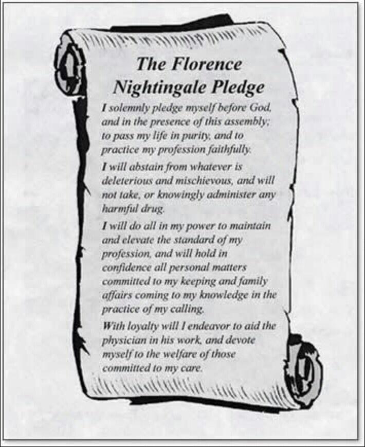 The florance nightingale pledge