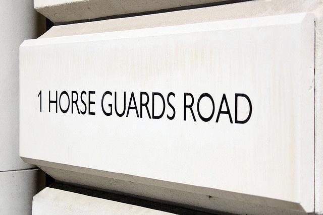 HM Treasury entrance, via Flickr