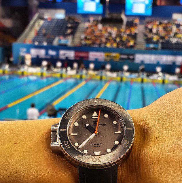 Landsort during the world championship in Doha, Qatar  #sjöösandström #sjoosandstrom #watch #watches #landsort #doha #qatar #pool
