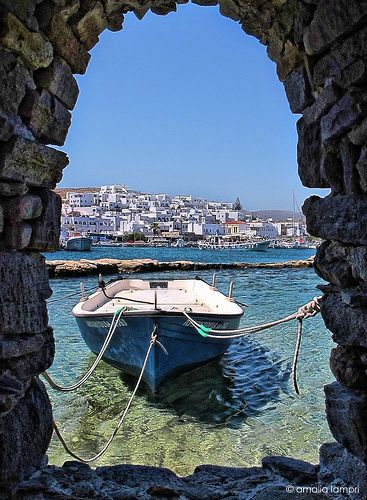 In Naousa,Paros - Greece Been here, I know exactly where this was taken :-)