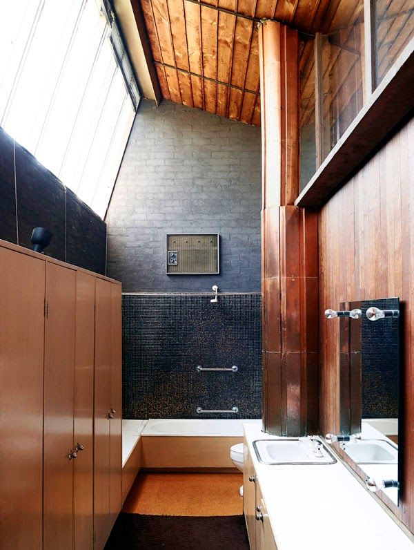 Baño Pequeno Suelo Oscuro:baño con gresite gris oscuro más baño principal google búsqueda