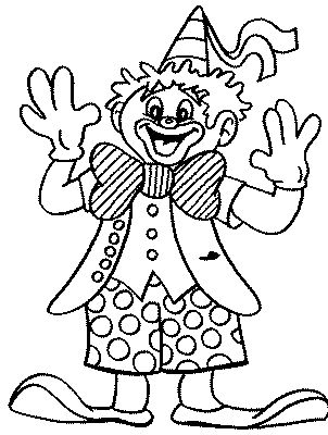 clown party circus coloring pages - photo#22