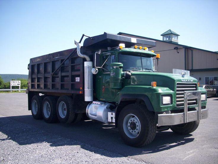 Tri Axle Garbage Truck : Mack trucks used rd s tri axle steel dump