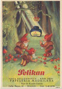 Papel secante con publicidad de Pelikan: tinta estilográfica - azul real. | eBay