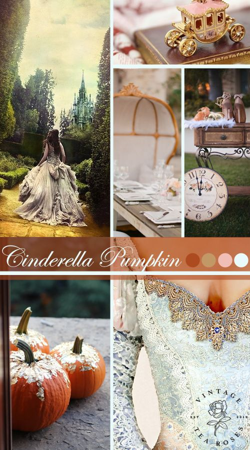 Cinderella Pumpkin Wedding Inspiration Vintage Fairytale Inspiration