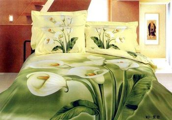 Calla Lily Pattern Free | Free shipping cotton bedding cotton quilt peony rose calla lily family ...